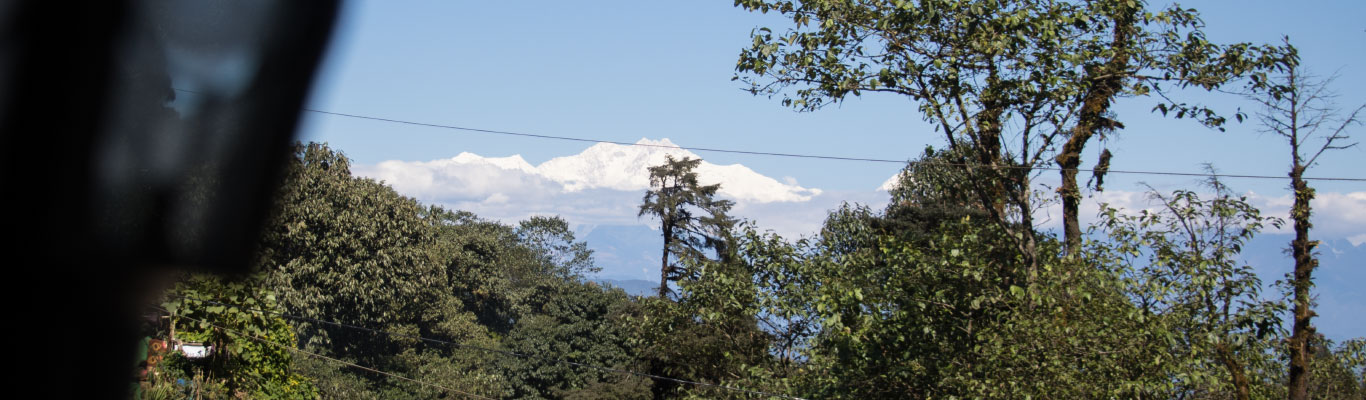 Kanchenjunga range as seen from the lodge balcony