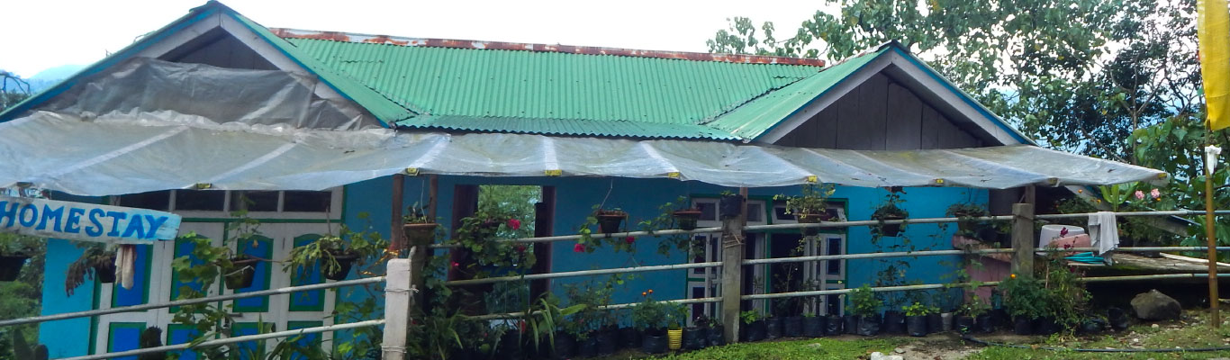 Front view of Aswin Homestay Borong