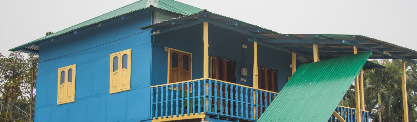The main building of the Homestay in Chilapata Dooars