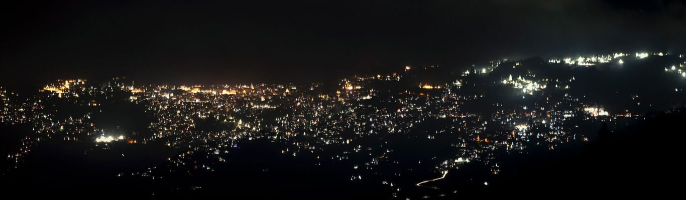 Darjeeling at Night from Lepchajagat