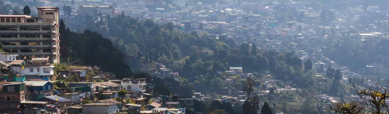 Darjeeling town view from Humro Home Riva