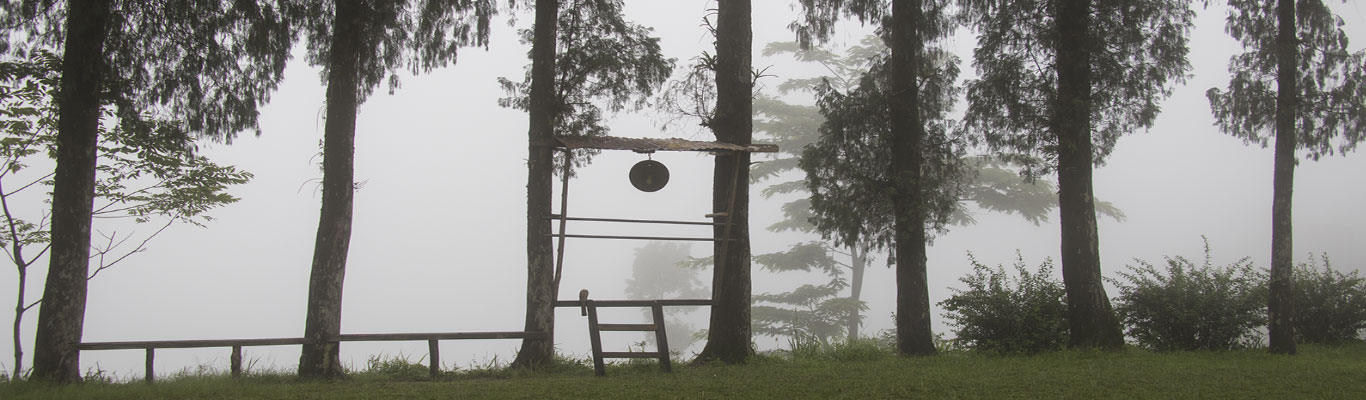 The bell for announcing time at the Cinchona Plantation
