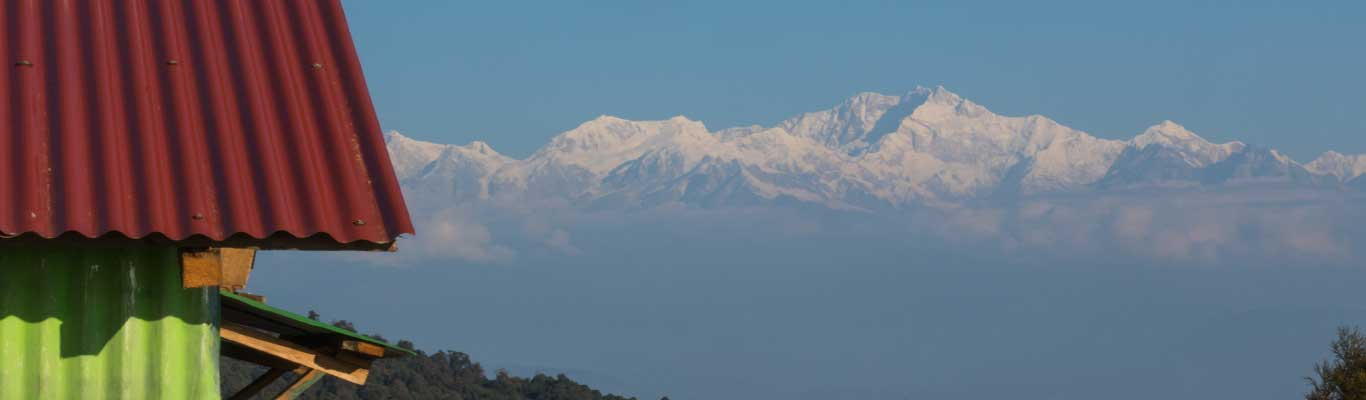 Kanchenjunga and our homestay together