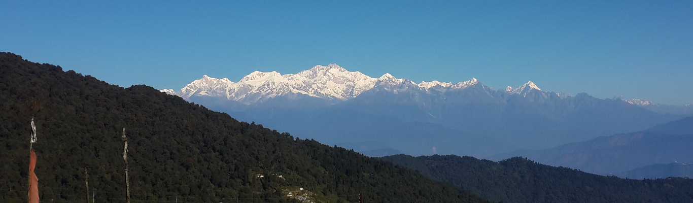 View of Kanchenjunga from our homestay