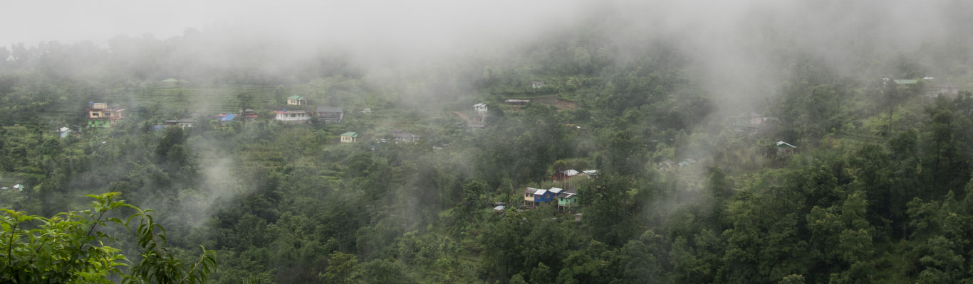 A part of the Sittong village on a cloudy day